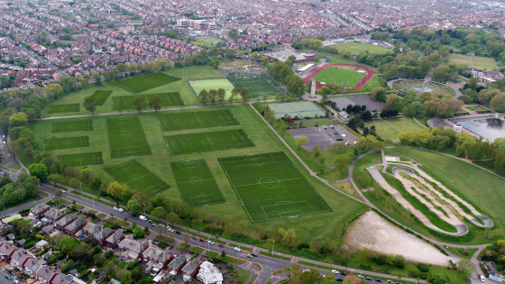 Stanley Park football pitch area